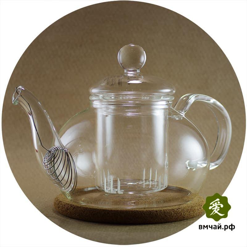 чайники заварочные стеклянные со стеклянной колбой